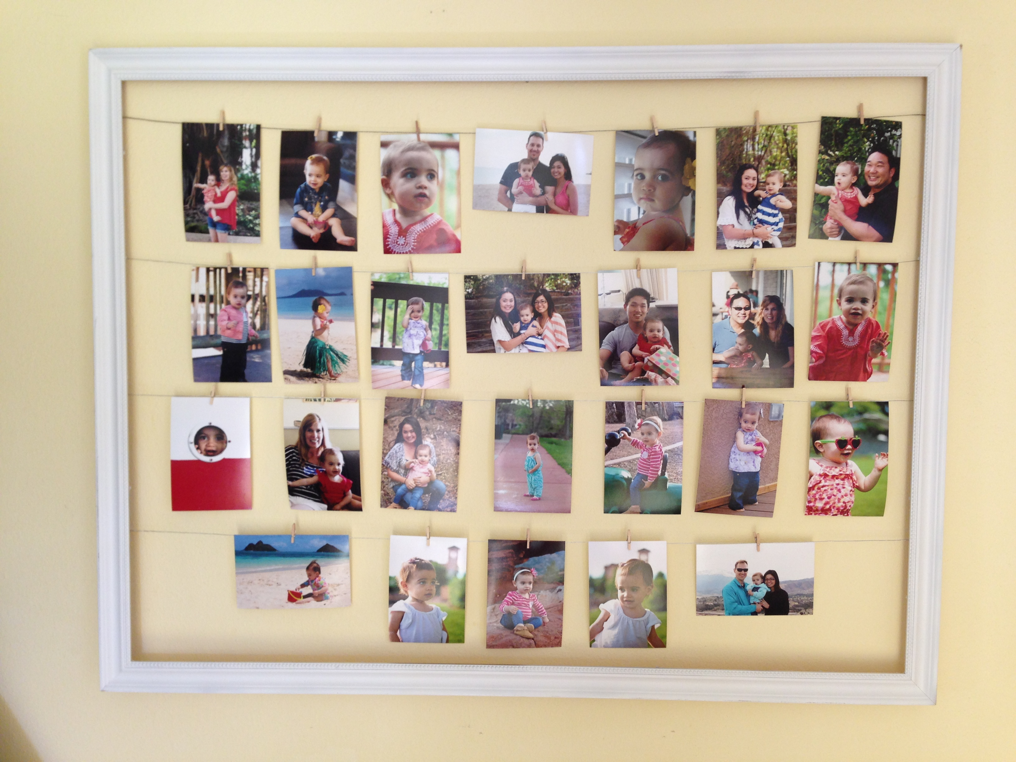Diy Photo Collage Frame Be Kind And Smile Often