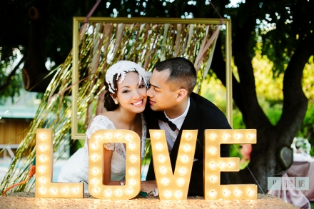 great gatsby wedding-Love Marquette sign 2